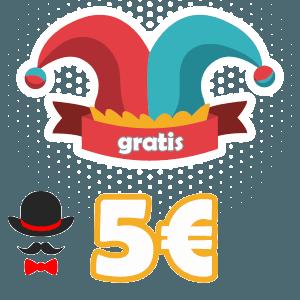 5 euros gratis en un bono sin deposito completamente gratuito