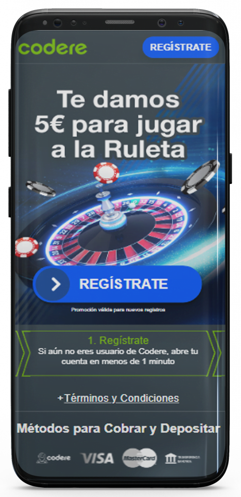 registrarse en Codere
